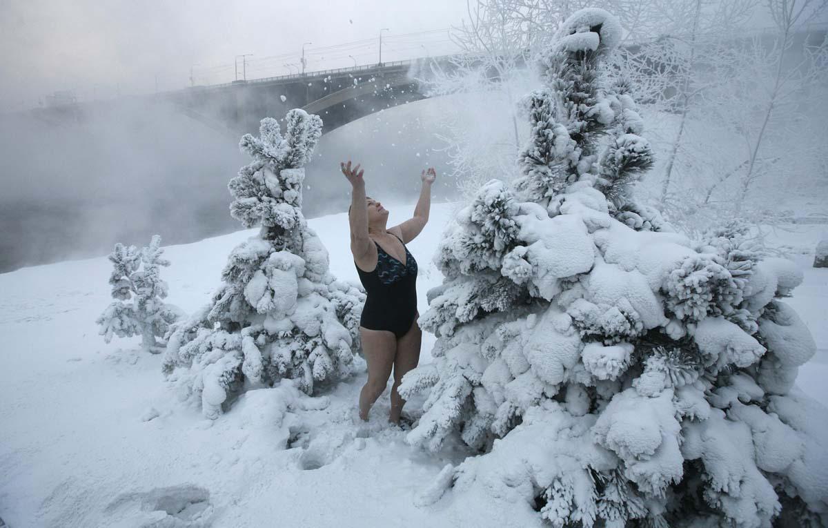 Закаливание в снегу
