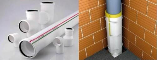 Использование труб со специальным звукопоглощающим материалом